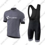 2018 Team CUBE Cycling Bib Kit Grey