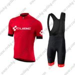 2018 Team CUBE Cycling Bib Kit Red