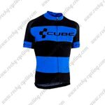 2018 Team CUBE Cycling Jersey Maillot Shirt Black Blue