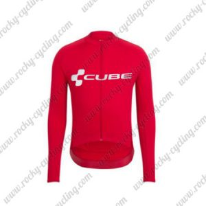 2018 Team CUBE Cycling Long Jersey Red