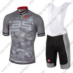 2018 Team Castelli Cycling Bib Kit Grey