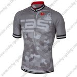 2018 Team Castelli Cycling Jersey Maillot Shirt Grey
