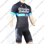 2018 Team GSG changing diabetes Cycling Kit Black Blue