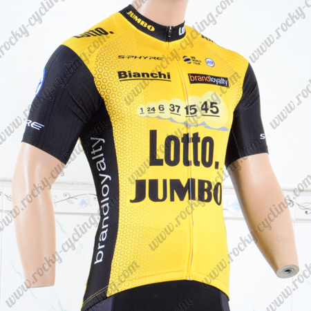 5469b5b3a 2018 Team LOTTO JUMBO Biking Apparel Riding Jersey Tops Maillot ...