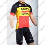2018 Team LOTTO SOUDAL Cycling Kit Black Yellow Red
