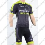2018 Team MITCHELTON SCOTT Cycling Kit Black Yellow