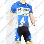 2018 Team Mitchelton SCOTT Cycling Kit Blue Black