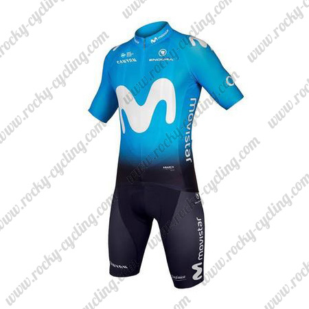 2018 Team Movistar Cycle Clothing Riding Jersey and Padded Shorts ... aa9ccc1d9