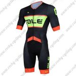 2018 Team QLE Cycling Skinsuit Black Orange Green