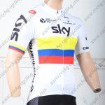 2018 Team SKY Bicycle Jersey Shirt White