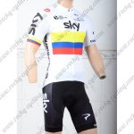 2018 Team SKY Cycle Kit White
