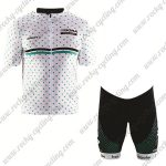2017 Team BORA hansgrohe Biking Kit White Green Dot