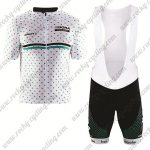 2017 Team BORA hansgrohe Cycling Bib Kit White Green Dot