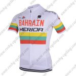 2018 Team BAHRAIN MERIDA Cycling Jersey Maillot Shirt White Rainbow