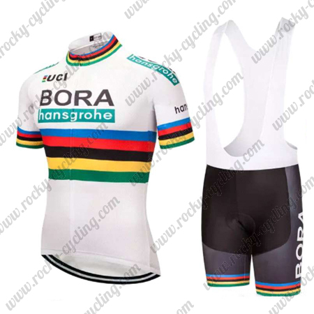 0394d2655 2018 Team BORA hansgrohe UCI Champion Racing Outfit Cycle Jersey and ...
