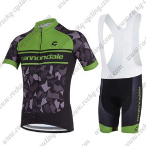 2018 Team Cannondale Cycling Bib Kit Black Green