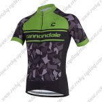2018 Team Cannondale Cycling Jersey Maillot Shirt Black Green