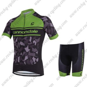 2018 Team Cannondale Cycling Kit Black Green