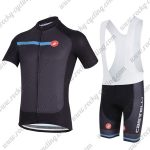 2018 Team Castelli Cycling Bib Kit Black Blue