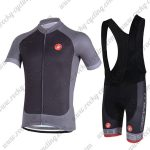 2018 Team Castelli Cycling Bib Kit Black Grey