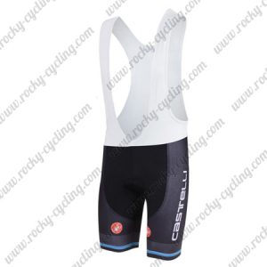 2018 Team Castelli Cycling Bib Shorts Bottoms Black Blue