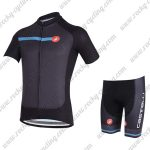 2018 Team Castelli Cycling Kit Black Blue
