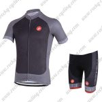2018 Team Castelli Cycling Kit Black Grey