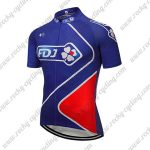 2018 Team FDJ Cycle Jersey Maillot Shirt Blue Red