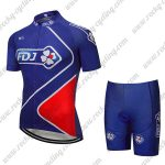 2018 Team FDJ Cycle Kit Blue Red
