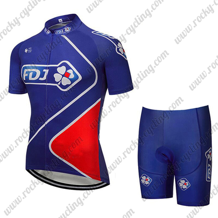 73bb7a3da 2018 Team FDJ Biking Outfit Summer Winter Cycle Jersey and Padded ...