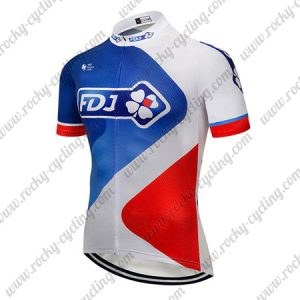 2018 Team FDJ Cycling Jersey Maillot Shirt Blue White Red