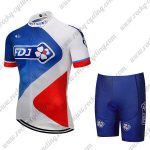 2018 Team FDJ Cycling Kit Blue White Red