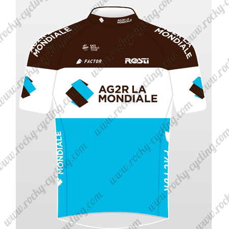 ... Cycle Wear Summer Winter Biking Maillot Jersey Tops Shirt. 2018 Team  AG2R LA MONDIALE Cycling Jersey Maillot Shirt Brown White Blue 275b141da