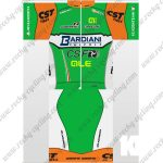 2018 Team BARDIANI Cycling Kit Green Orange