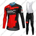 2018 Team BMC Cycling Long Bib Suit Black Red
