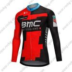 2018 Team BMC Cycling Long Jersey Black Red