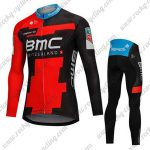 2018 Team BMC Cycling Long Suit Black Red