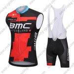 2018 Team BMC Cycling Sleeveless Bib Kit Black Red