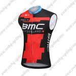 2018 Team BMC Cycling Sleeveless Jersey Vest Black Red