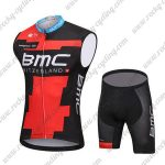 2018 Team BMC Cycling Sleeveless Kit Black Red