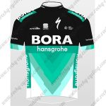 2018 Team BORA hansgrohe Cycling Jersey Maillot Shirt Black Blue