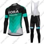 2018 Team BORA hansgrohe Cycling Long Bib Suit Black Blue