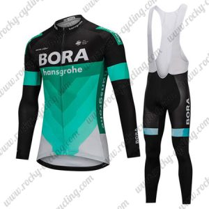 ... Winter Cycle Outfit Thermal Fleece Riding Long Jersey and Padded Bib  Pants Tights Black Blue. 2018 Team BORA hansgrohe Cycling Long Bib Suit  Black Blue e3b9ce4a7
