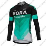 2018 Team BORA hansgrohe Cycling Long Jersey Black Blue