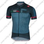 2018 Team Castelli Cycling Jersey Maillot Shirt Blue