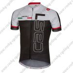 2018 Team Castelli Cycling Jersey Maillot Shirt White Black