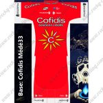 2018 Team Cofidis Cycling Kit Red White
