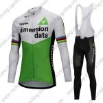 2018 Team Dimension data Cycling Long Bib Suit White Green