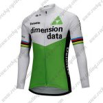 2018 Team Dimension data Cycling Long Jersey White Green