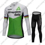 2018 Team Dimension data Cycling Long Suit White Green